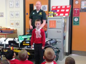 Primary 2 get an inside view of a paramedic's life